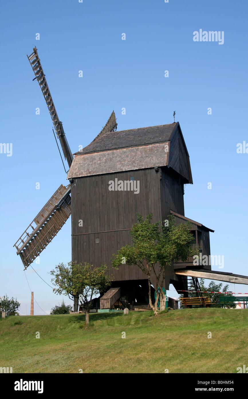 Windmill, Werder, Brandenburg, Germany - Stock Image