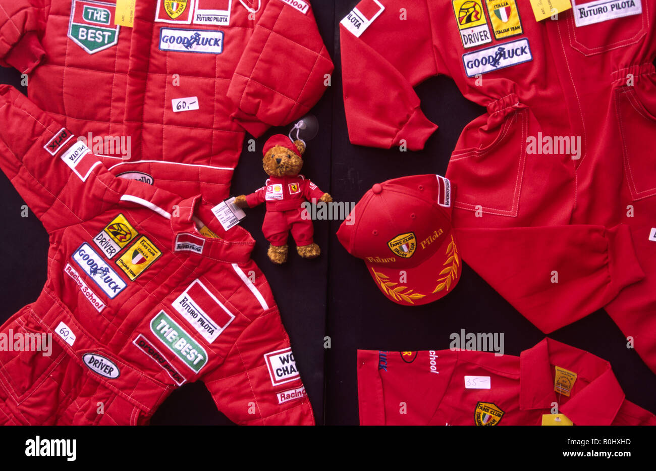 ferrari merchandise mechanic overalls for children for sale at the stock photo 17604425 alamy. Black Bedroom Furniture Sets. Home Design Ideas