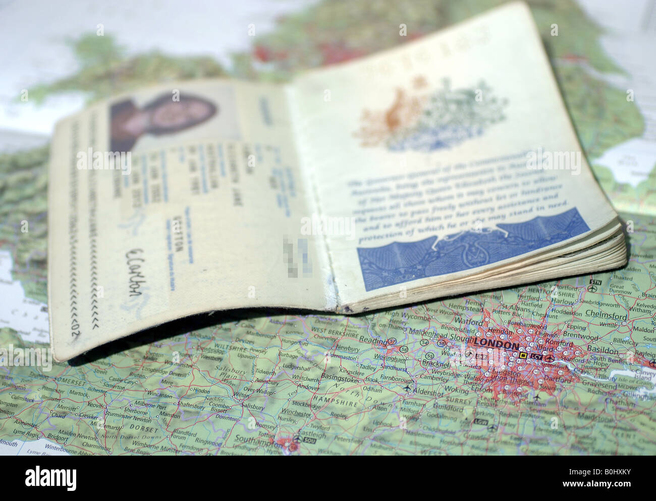 Visa requirements to work and live in the United Kingdom 12 05 2008 - Stock Image
