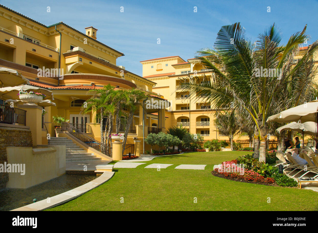 The exterior gardens of the Ritz Carlton resort in Palm Beach ...