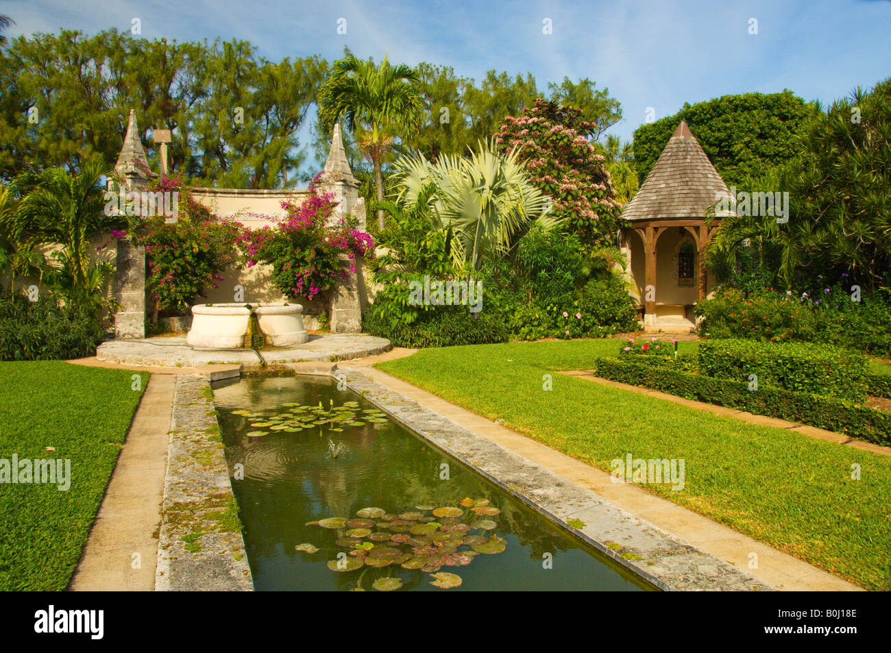 The pool and gardens of The Episcopal Church of Bethesda by the Sea ...