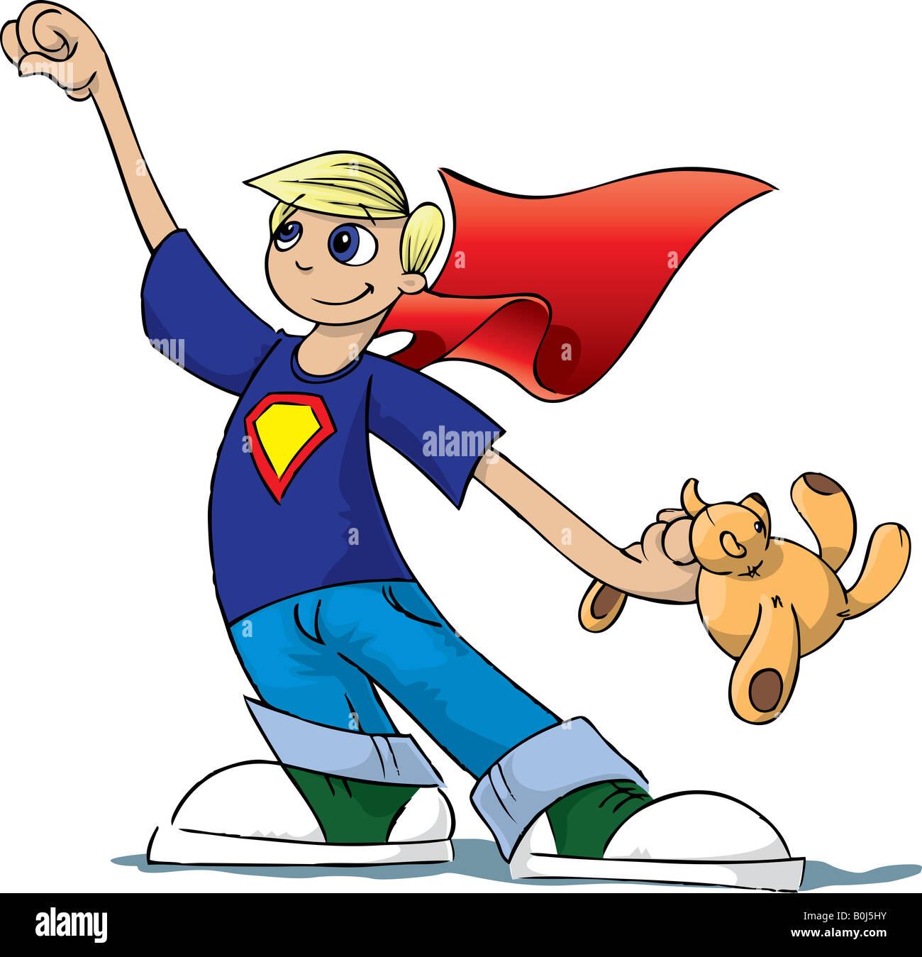 Boy Hero - Stock Image