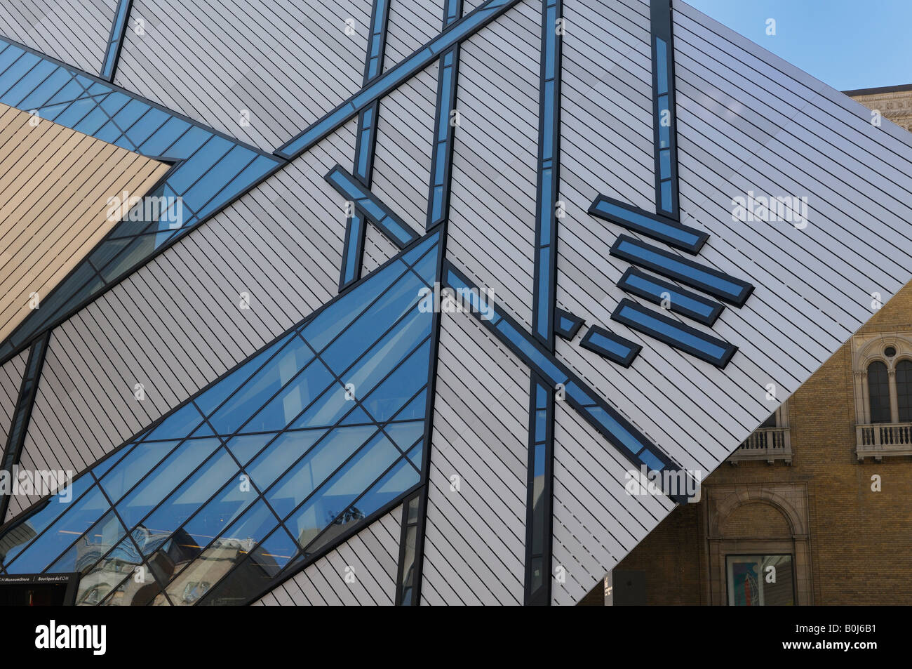 Michael Lee Chin Crystal addition to the Royal Ontario Museum ROM Toronto - Stock Image