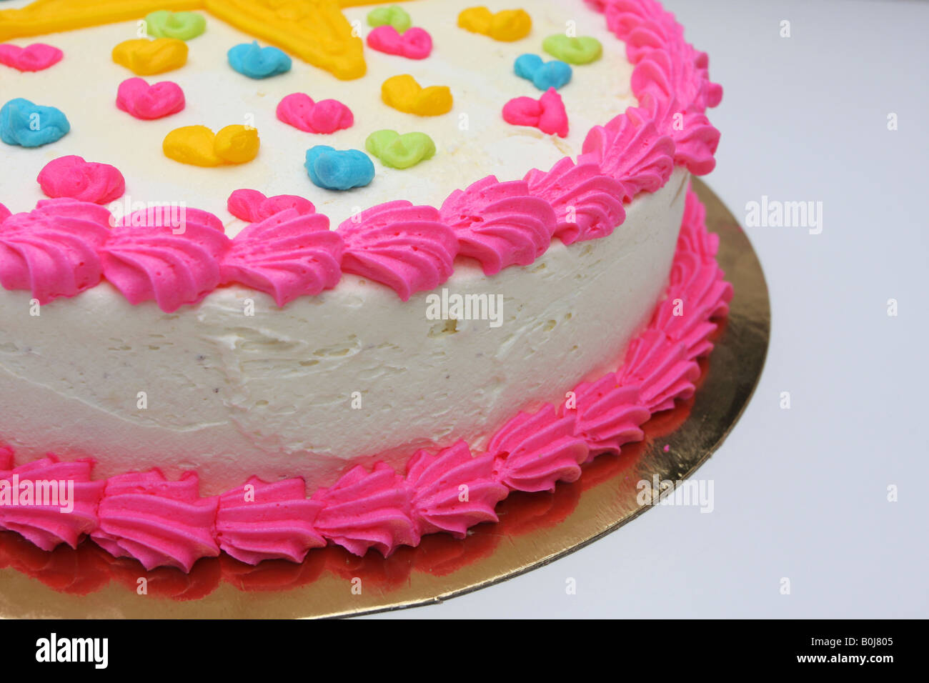 Cropped Shot Of A Small Girls Birthday Cake Stock Photo 17611781