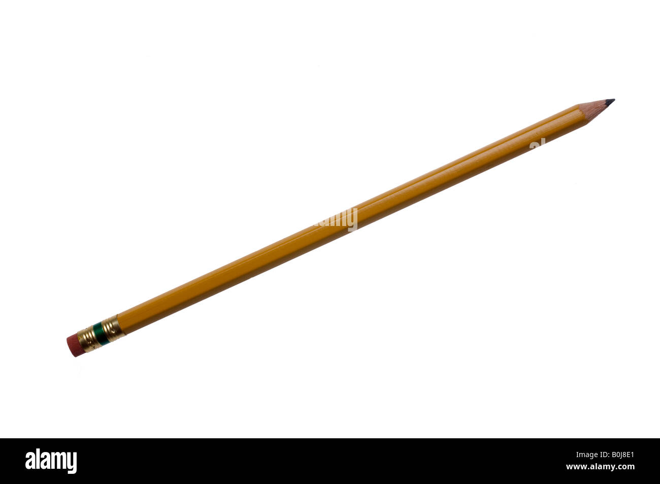 Cutout of pencil, full length view. - Stock Image