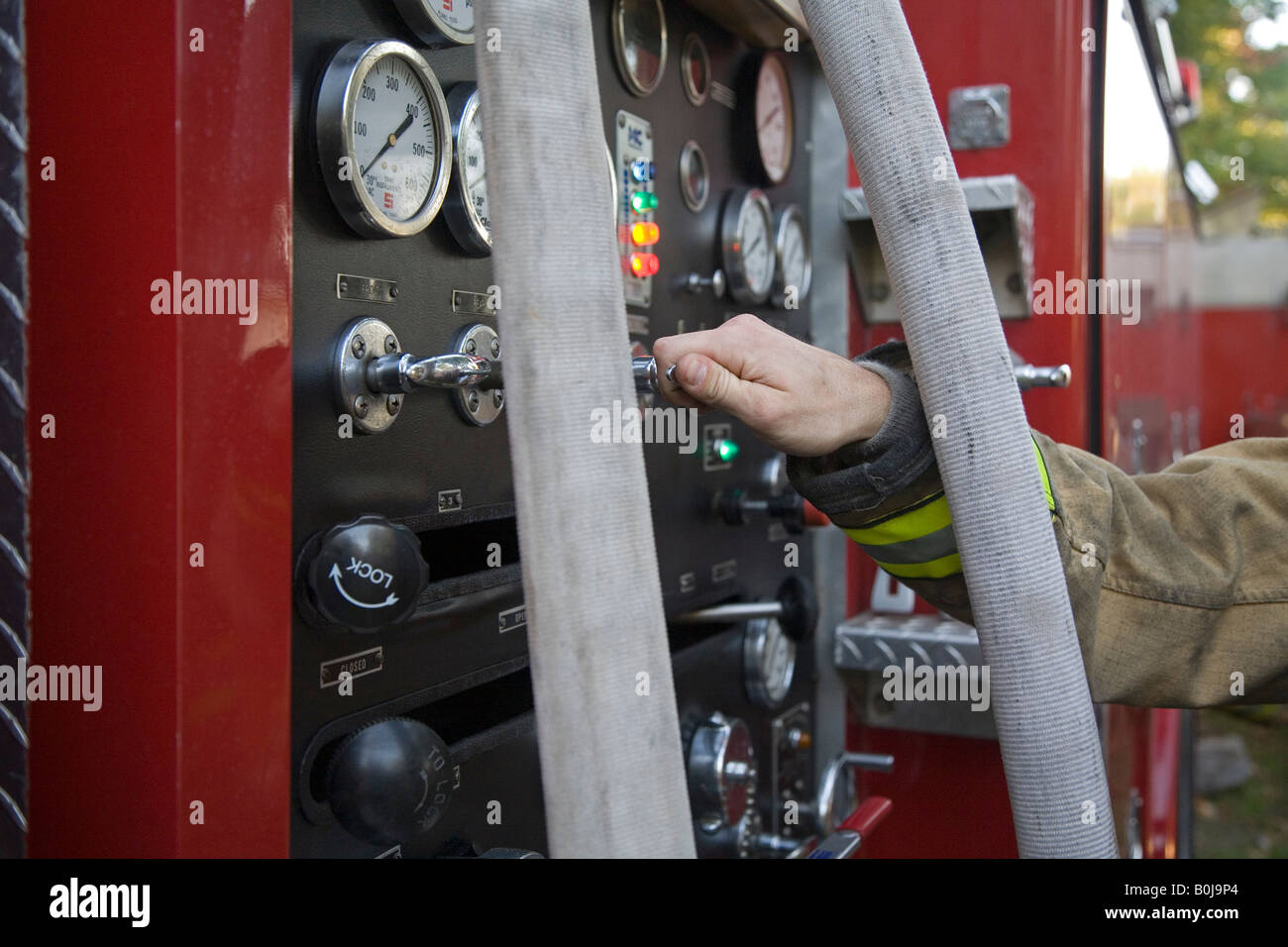 Volunteer Fire Department - Stock Image