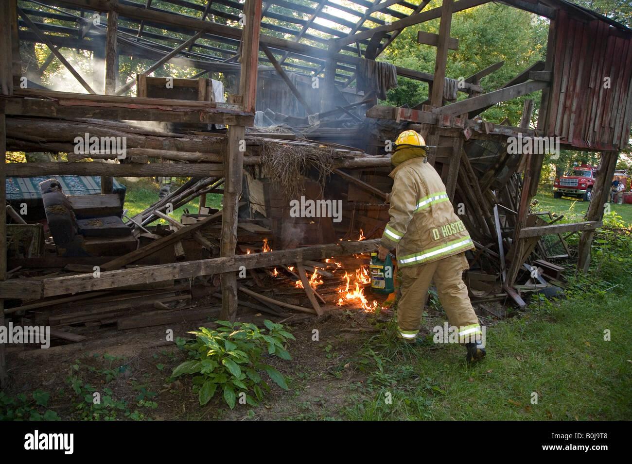 Volunteer Firefighters - Stock Image