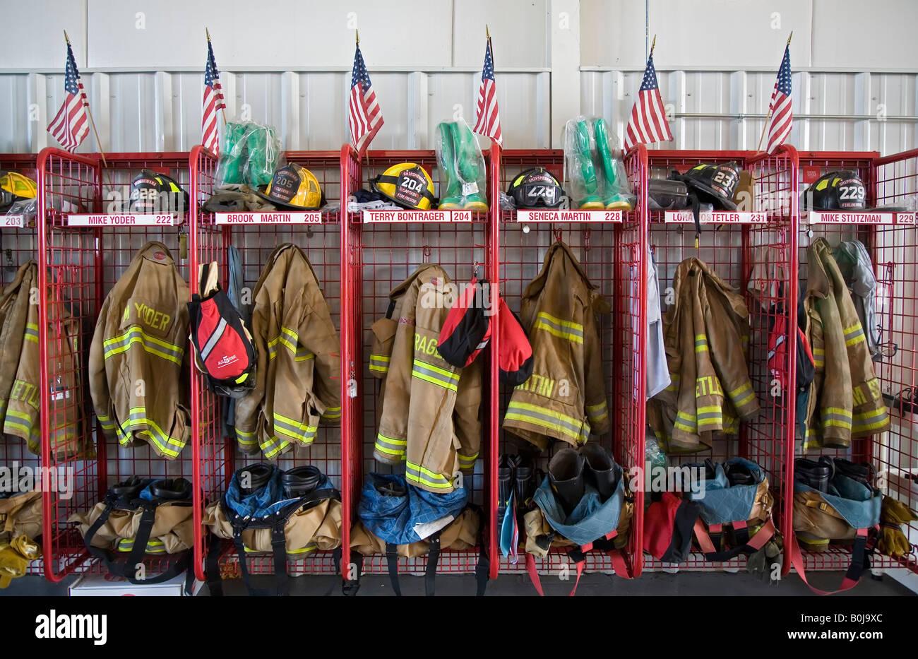 Volunteer Fire Department - Stock Image