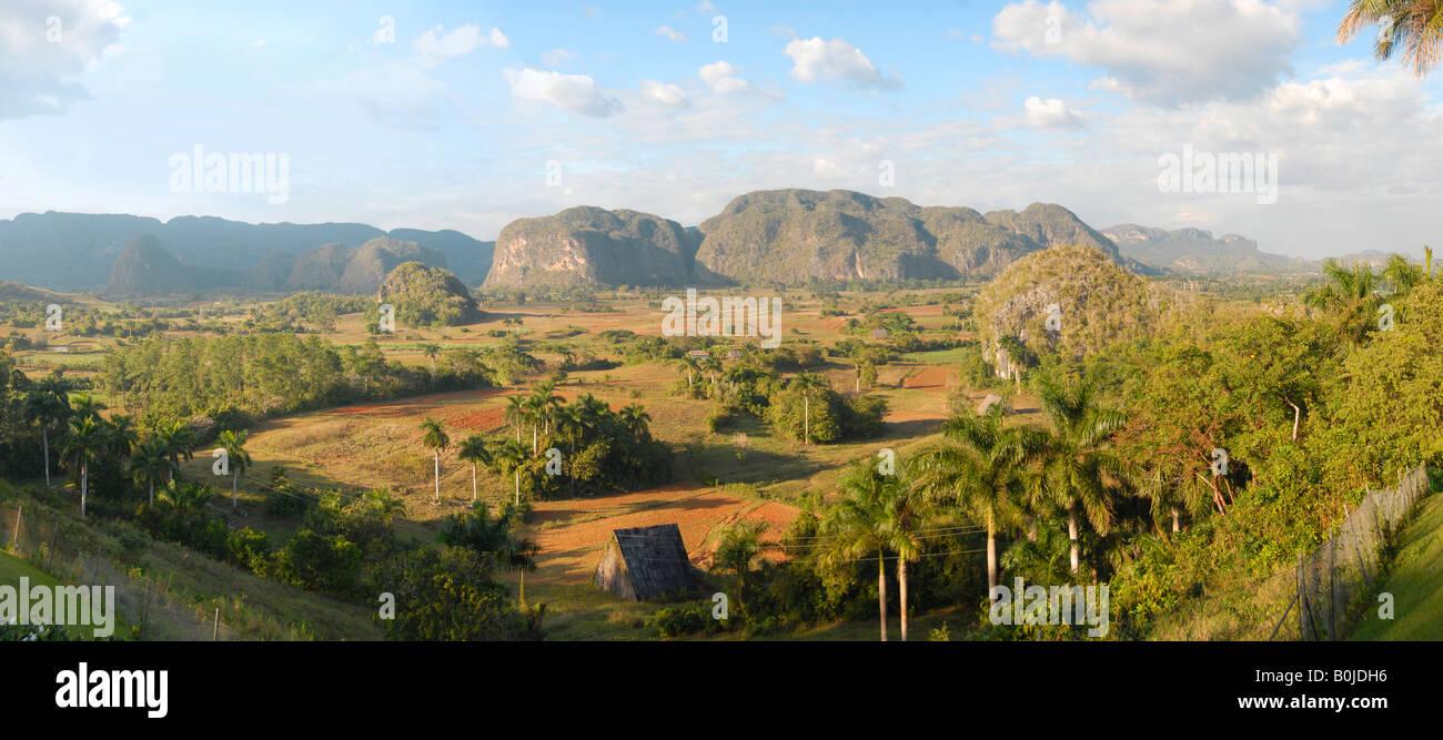 Sweeping view of Valle de Vinales Cuba - Stock Image