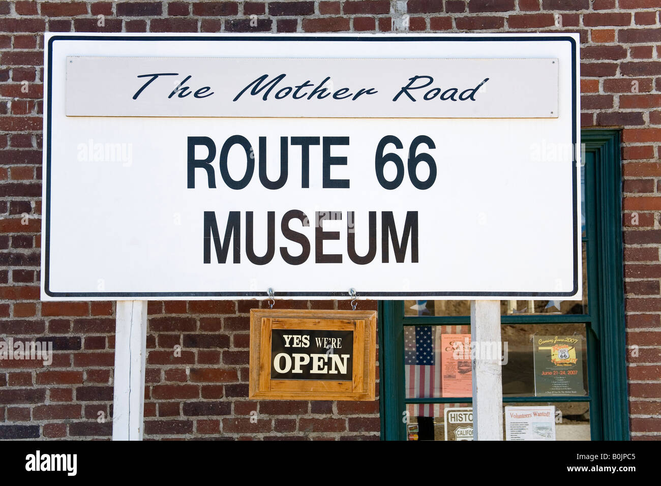 route 66 mother road museum harvey house barstow california usa