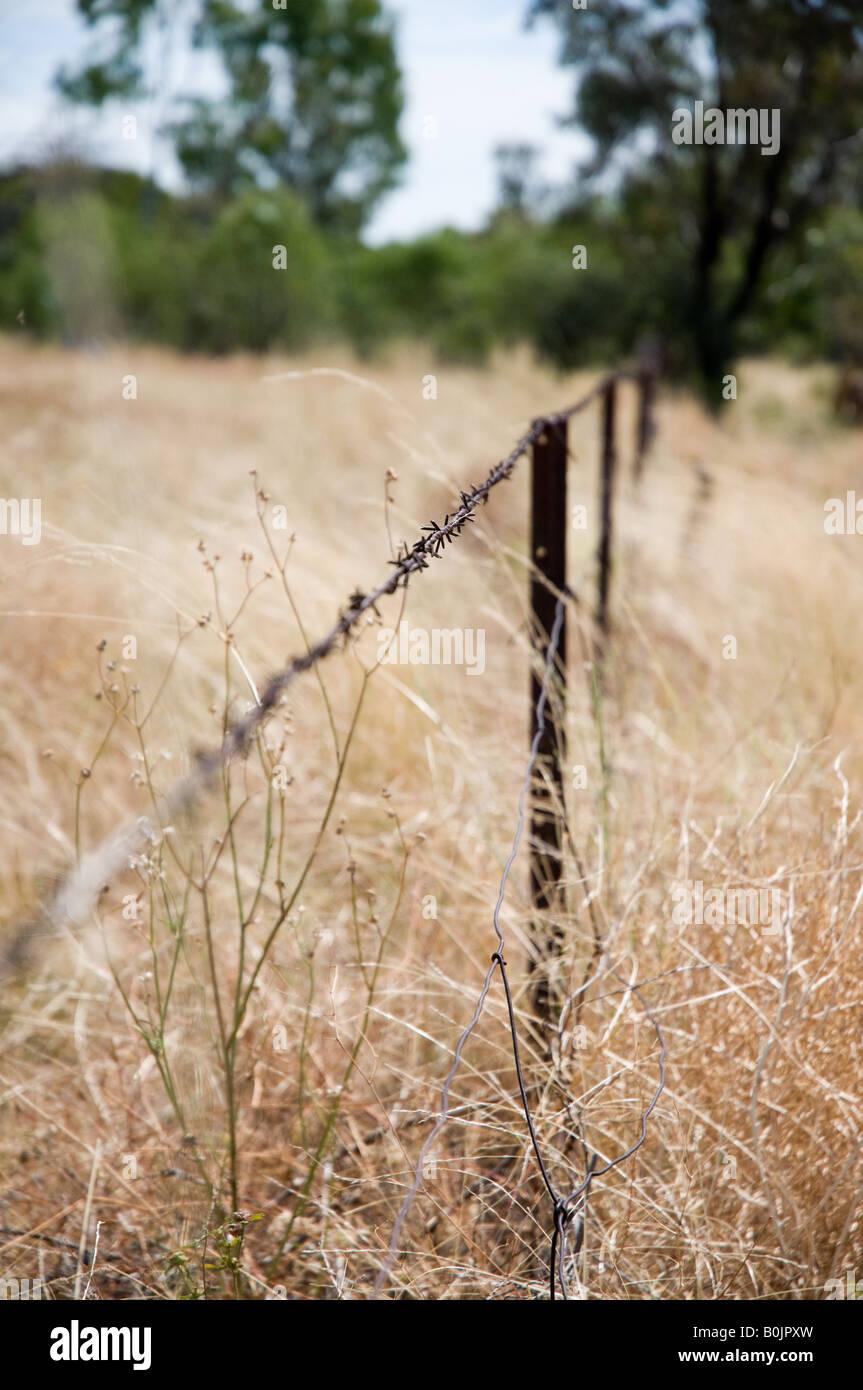 Remote farm in Moree, NSW - Stock Image