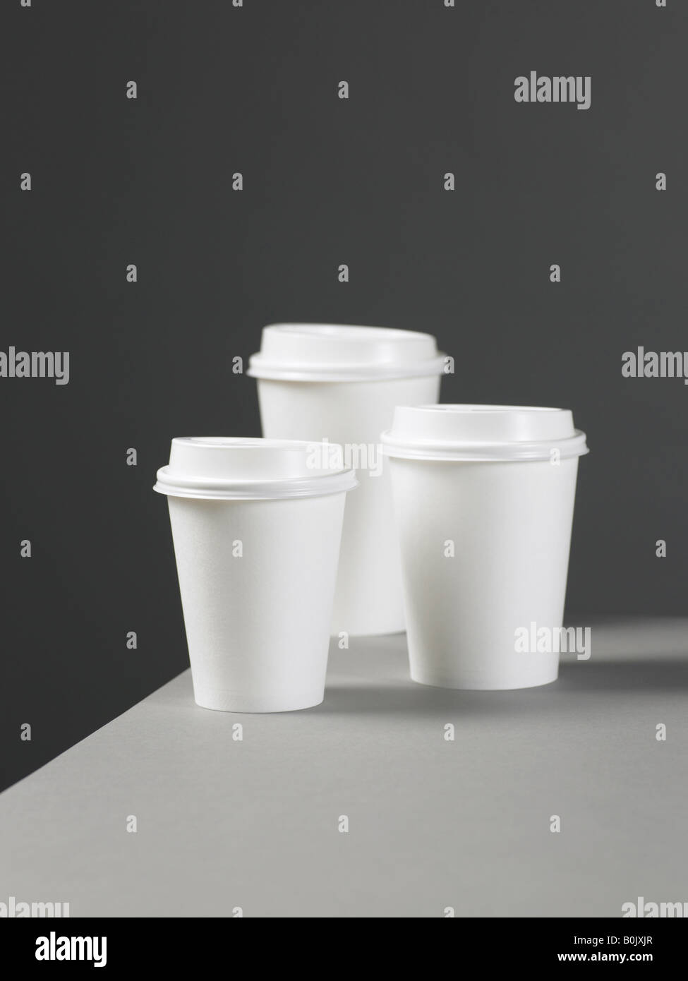 take away cups - Stock Image