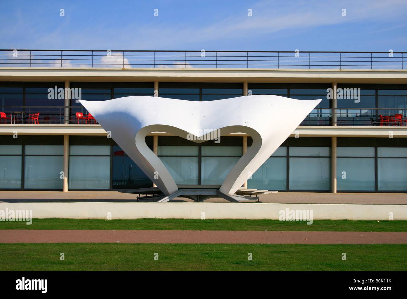 De La Warr Pavilion Bexhill Sussex designed by Mendelsohn and Chermayeff - Stock Image