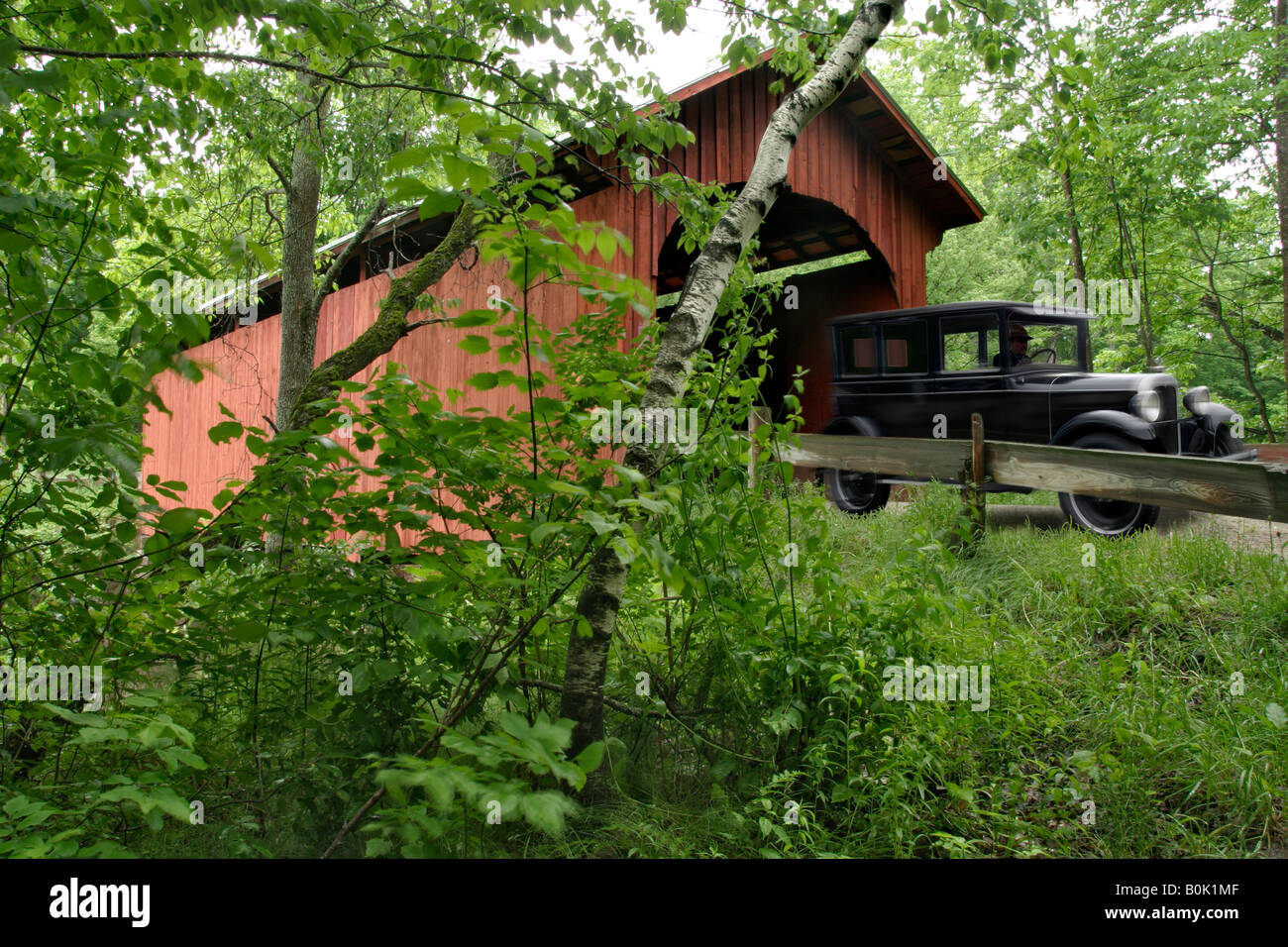 'Slaughter House Covered Bridge' Northfield VT - Stock Image
