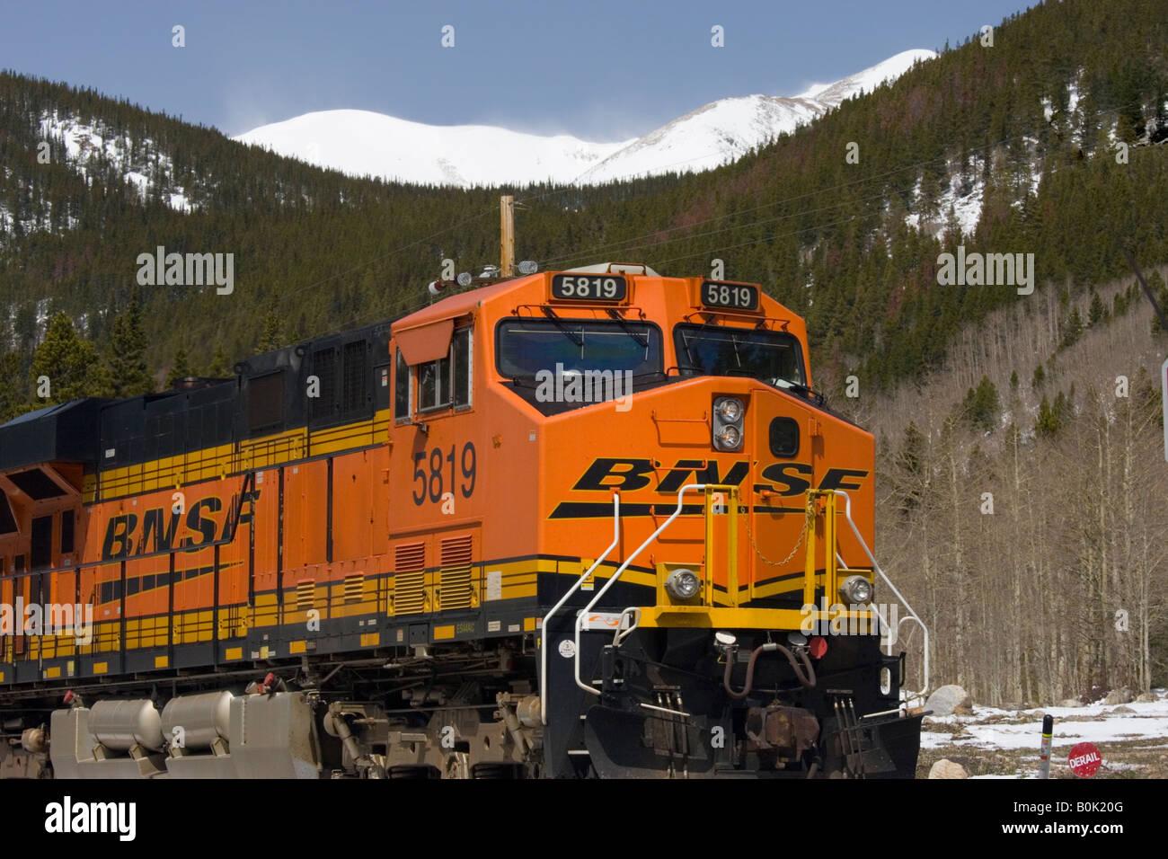 Mountains Freight Train Stock Photos & Mountains Freight