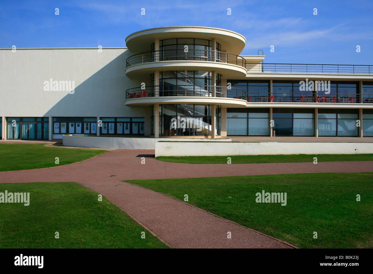 De La Warr Pavilion Bexhill Sussex designed by Mendelsohn and Chermayeff Stock Photo