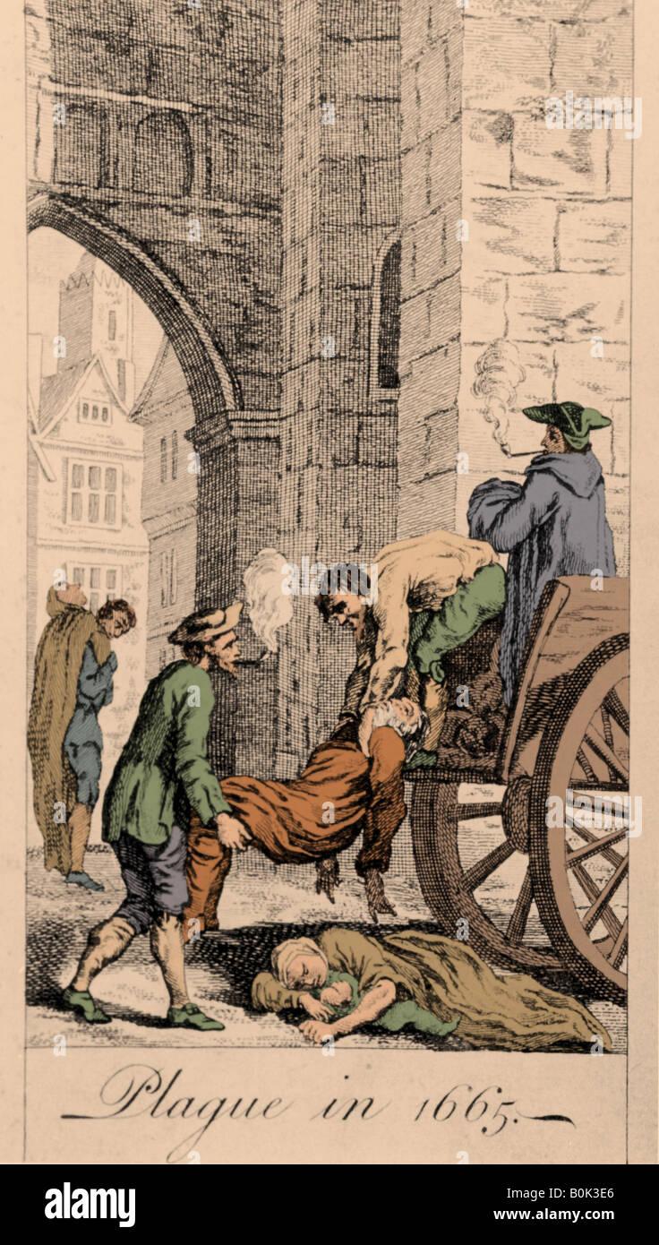 Epidemics, the Plague of 166. - Stock Image