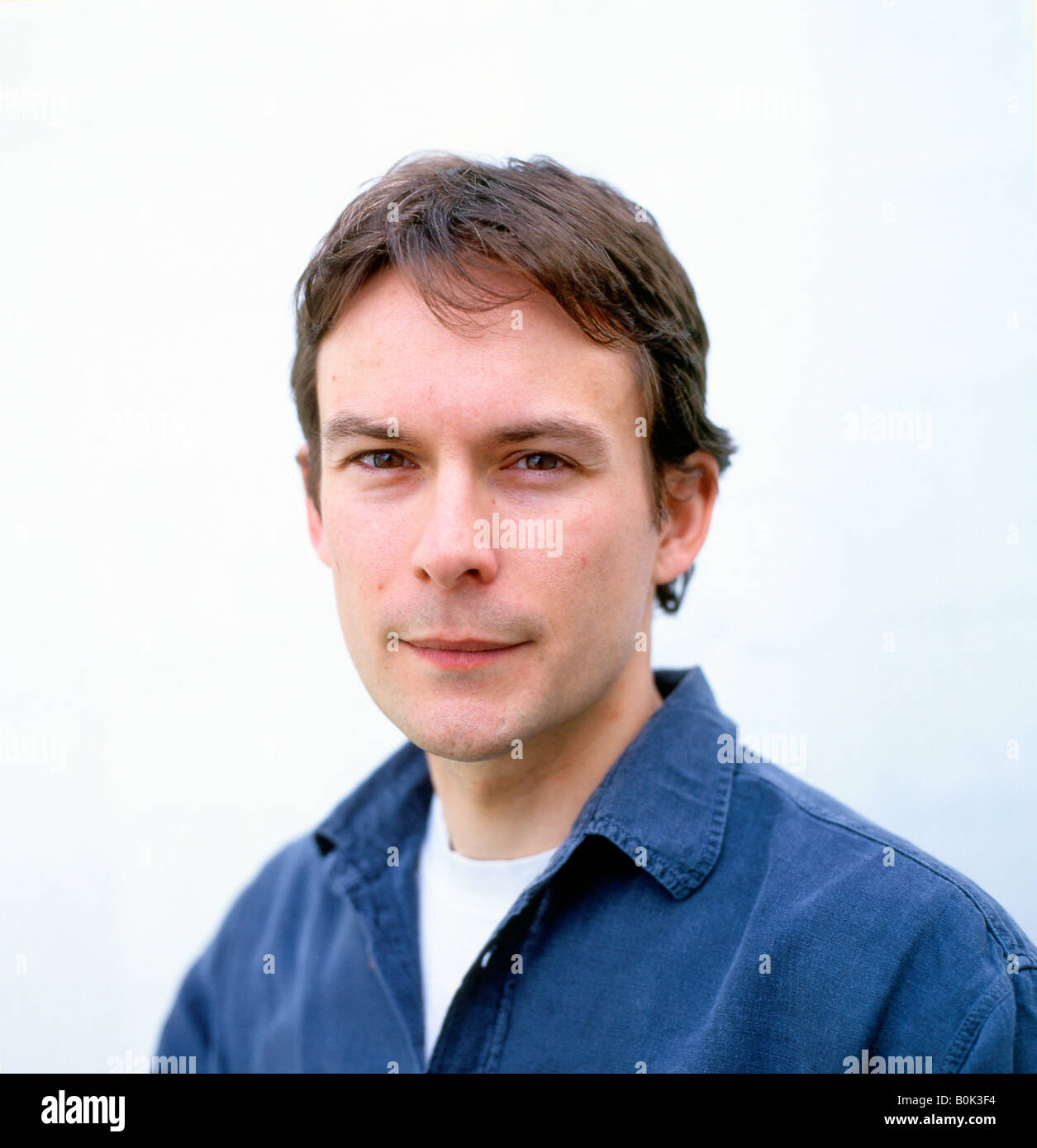 Writer Peter Hobbs at the 2005 Guardian Hay Festival Hay on Wye Wales UK - Stock Image