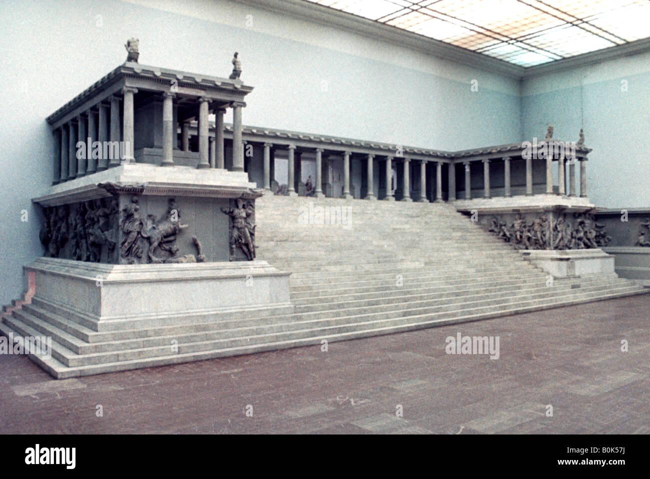Pergamon Altar, 2nd century BC. Artist: Unknown - Stock Image