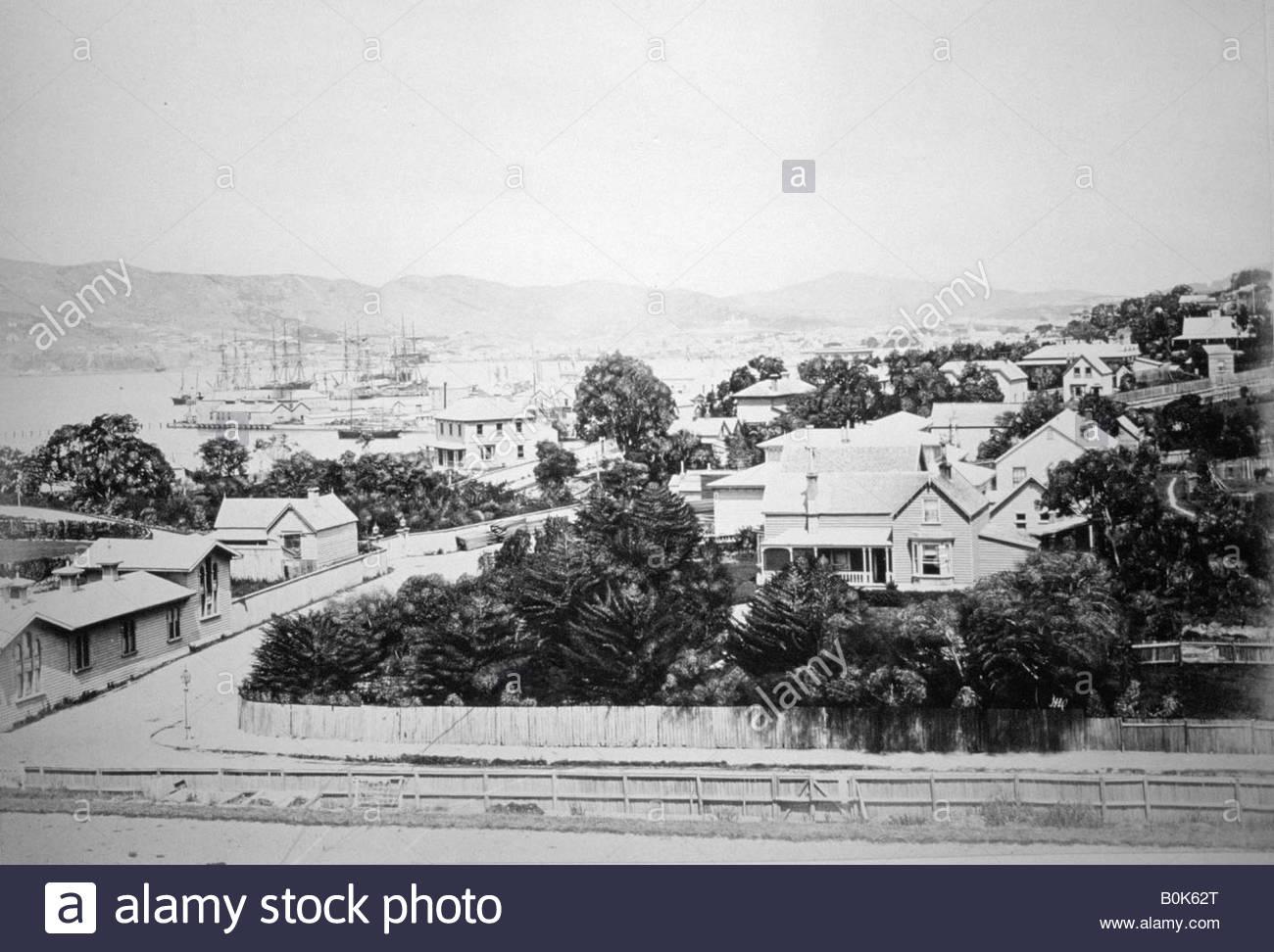 Wellington, New Zealand, 1875. Stock Photo
