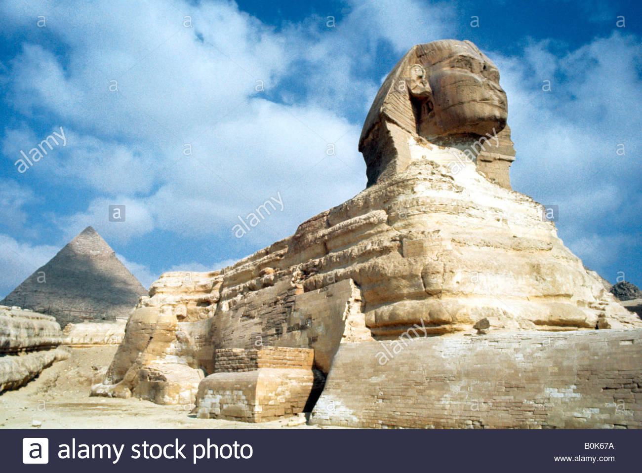 The Great Sphinx of Giza, Egypt, 20th Century. - Stock Image