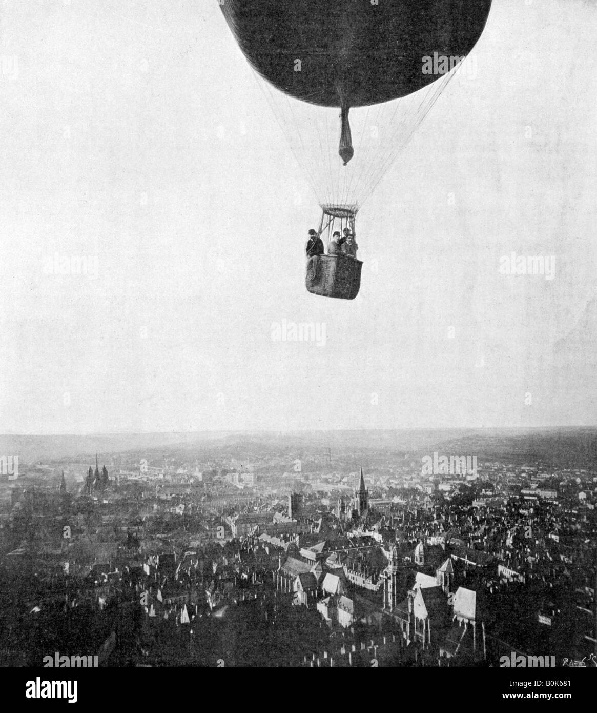 Balloon of the Aero Club, 18th March 1899.  Artist: Unknown - Stock Image