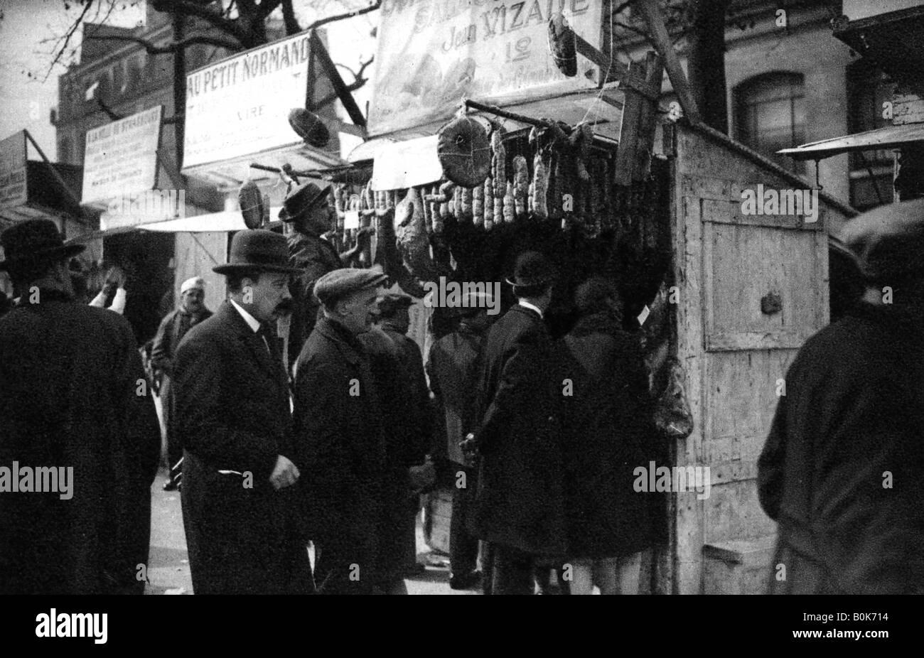 Ham Fair on the Boulevard Richard Lenoir, Paris, 1931. Artist: Ernest Flammarion - Stock Image