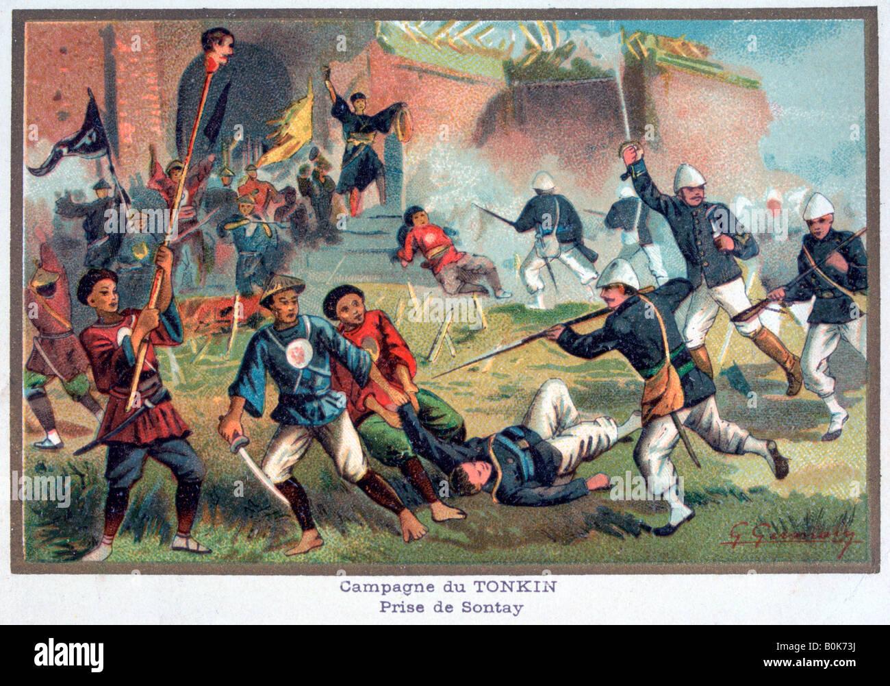 Battle of Tonkin, Franco-Chinese War, 20th century. Artist: Unknown Stock Photo
