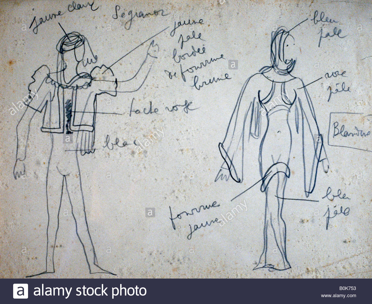 Costume Design For Knights Of The Round Table 1937 Artist Jean