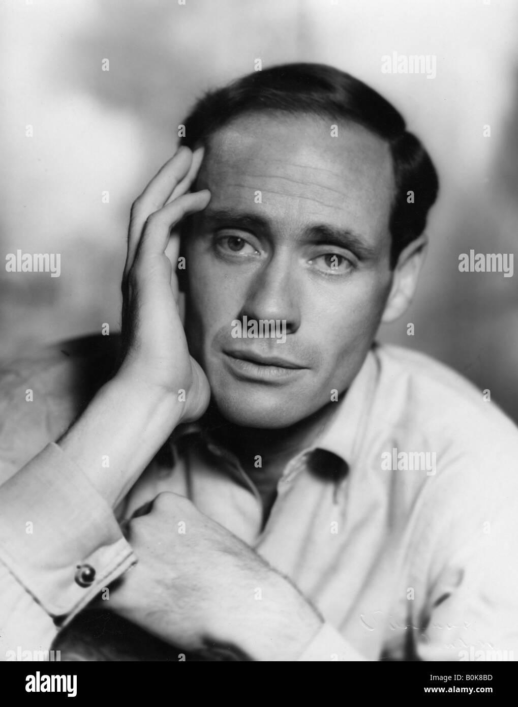 Mel Ferrer (b1917), Cuban-American film actor, producer and director, 1950s. Artist: Vivienne Sharp - Stock Image