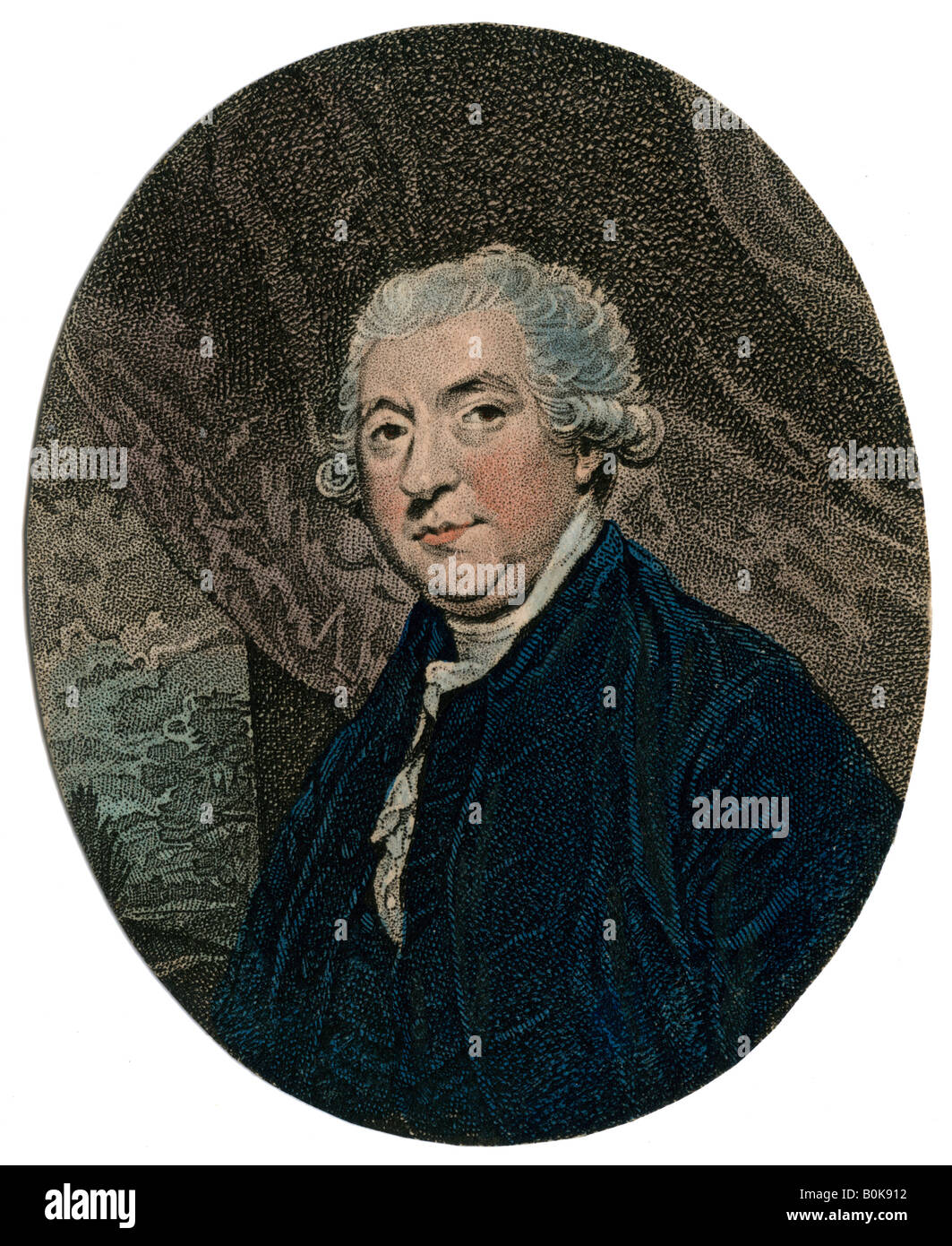 James Boswell, 9th Laird of Auchinleck, 18th century Scottish lawyer and diarist, 19th century. Artist: Unknown - Stock Image
