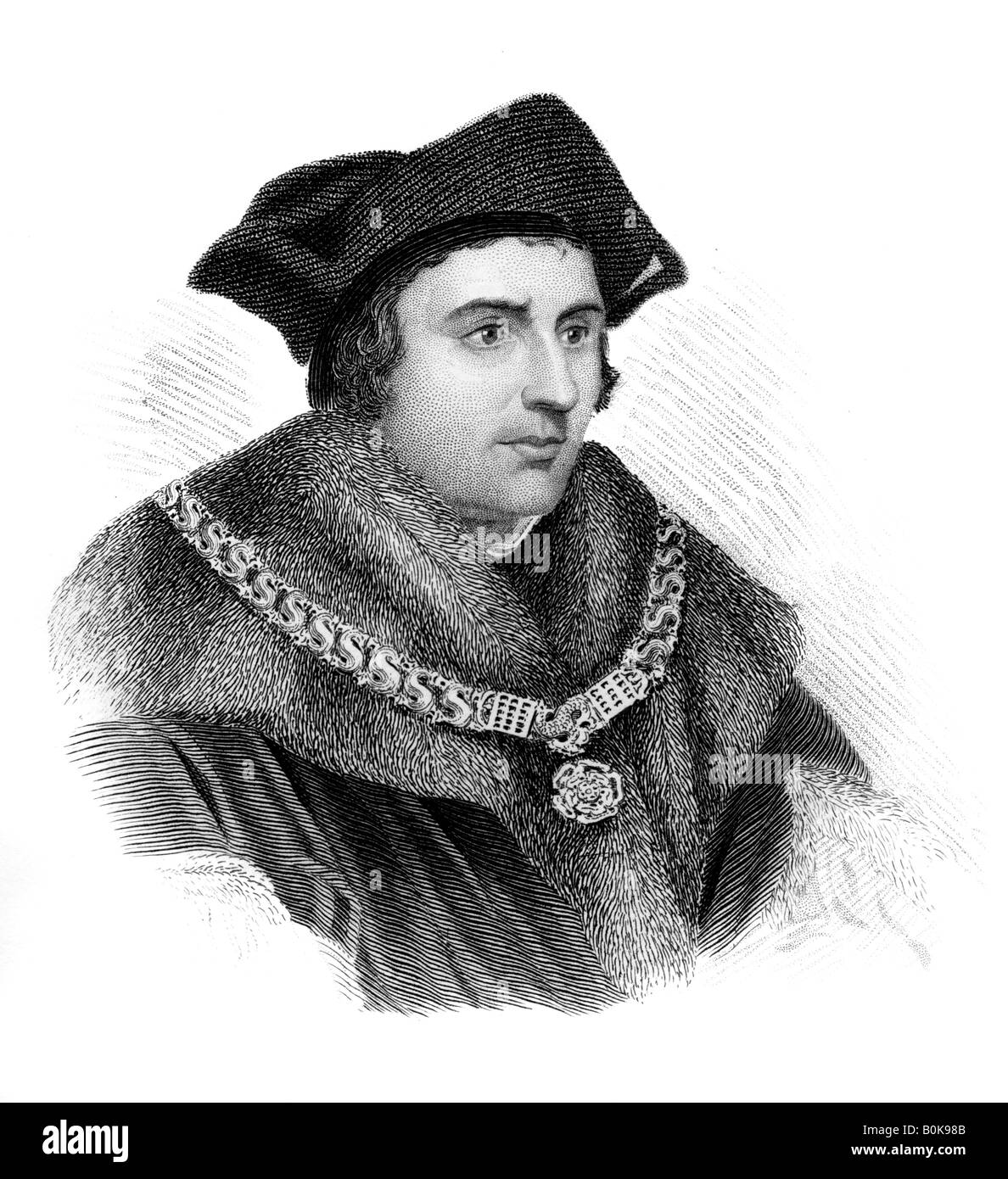 Saint Sir Thomas More, English politician, scholar and martyr, (c1850). Artist: Unknown Stock Photo