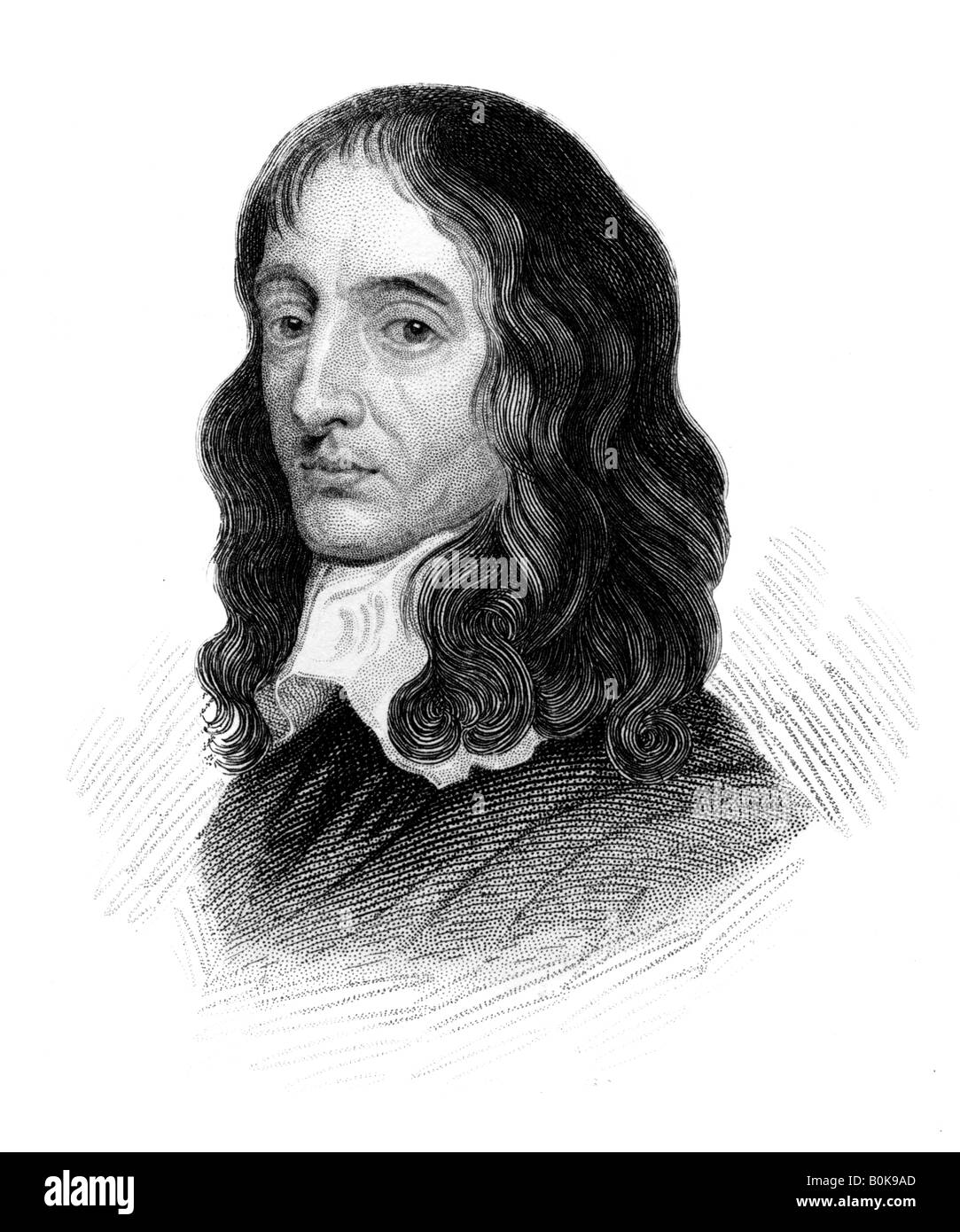 John Selden, English jurist, antiquary and oriental scholar, (c1850). Artist: Unknown - Stock Image