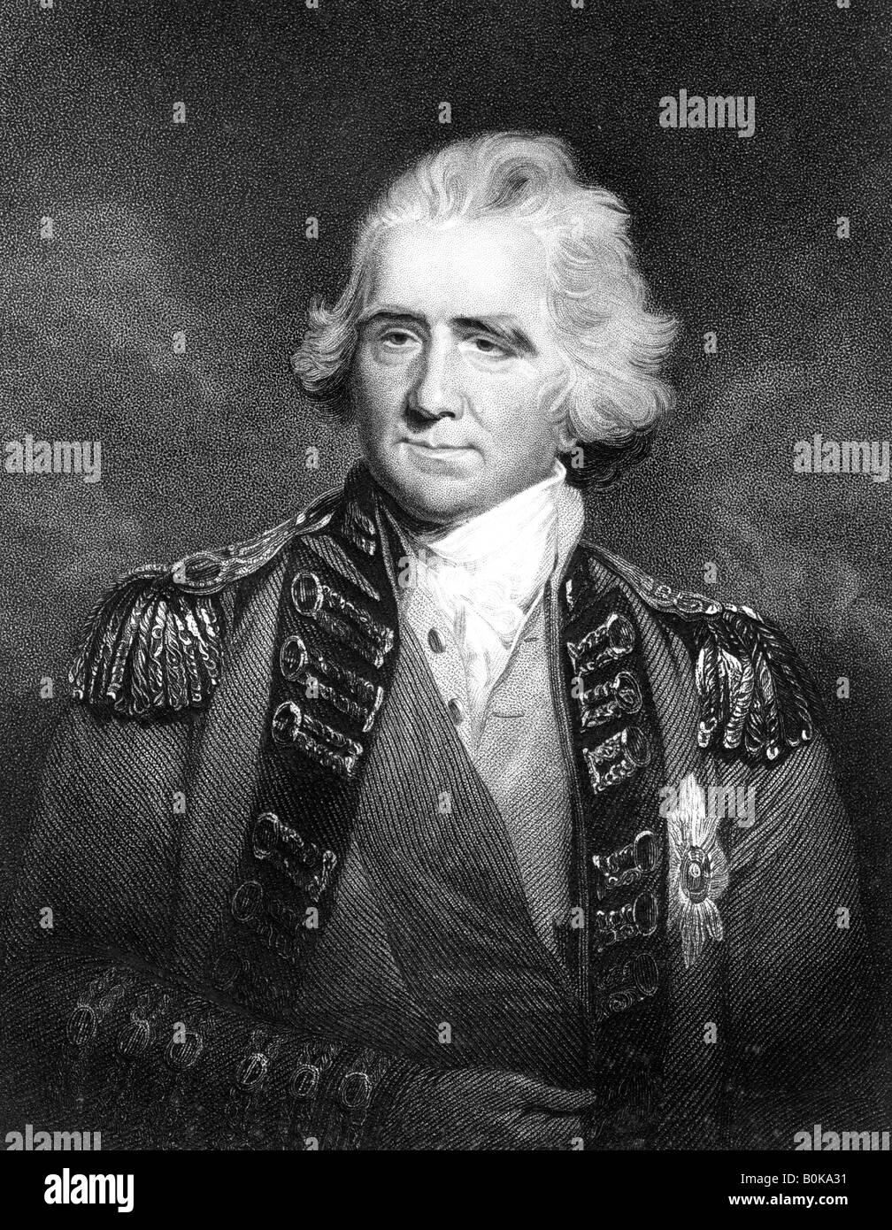 Sir Ralph Abercromby, British general.Artist: HD Cook - Stock Image