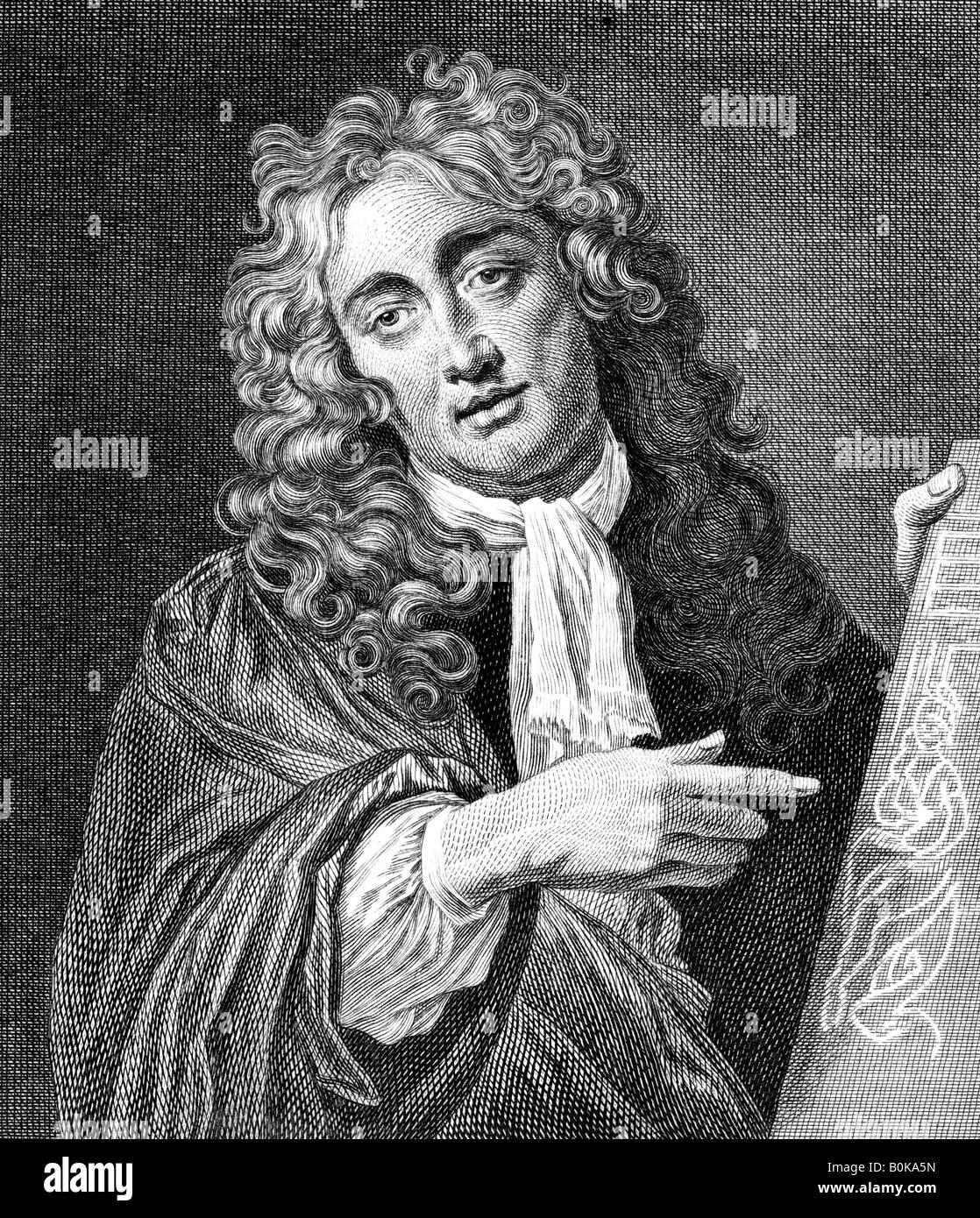 Abraham Hondius, Dutch Baroque era printmaker and painter. Artist: T Chambars - Stock Image