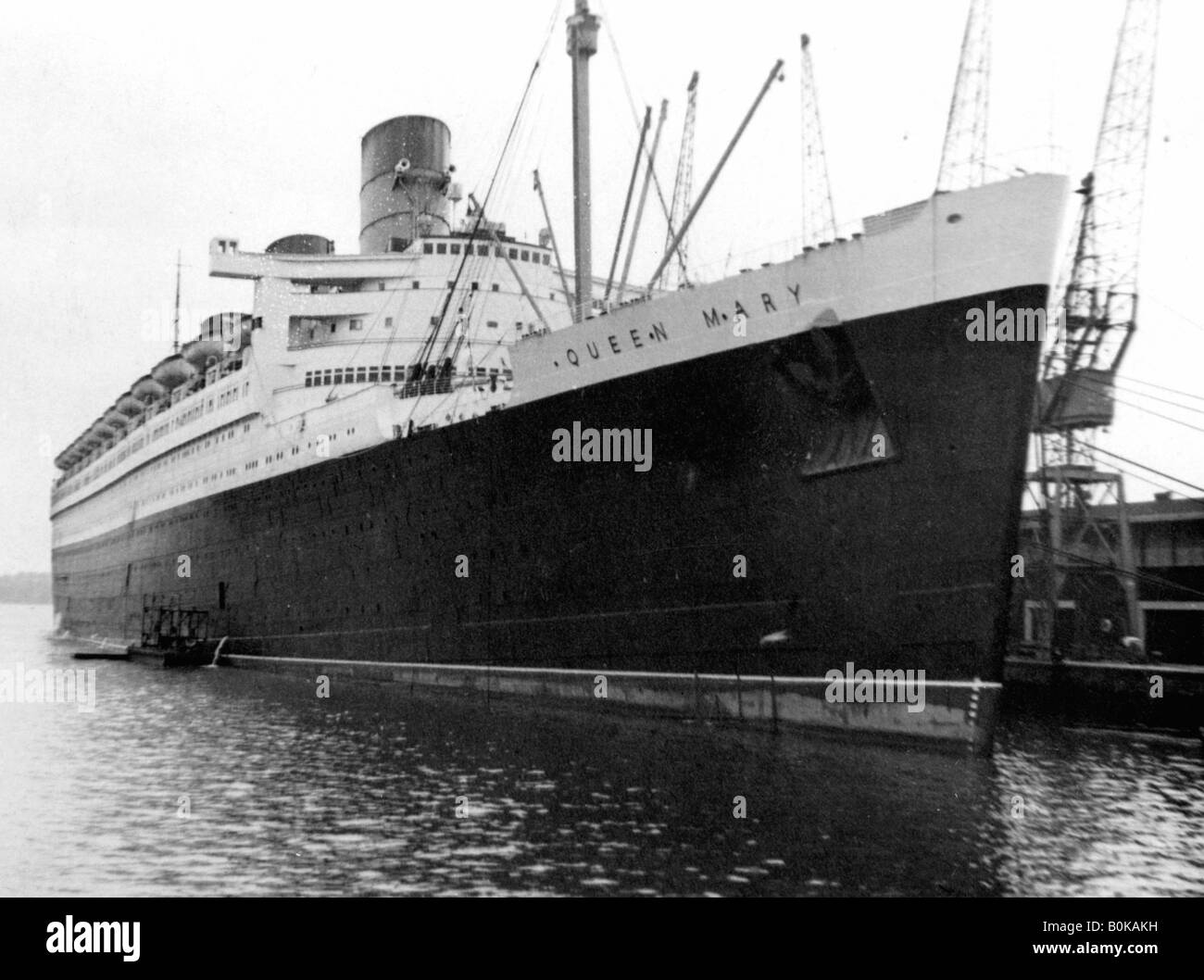Ocean liner RMS 'Queen Mary', 20th century. Stock Photo