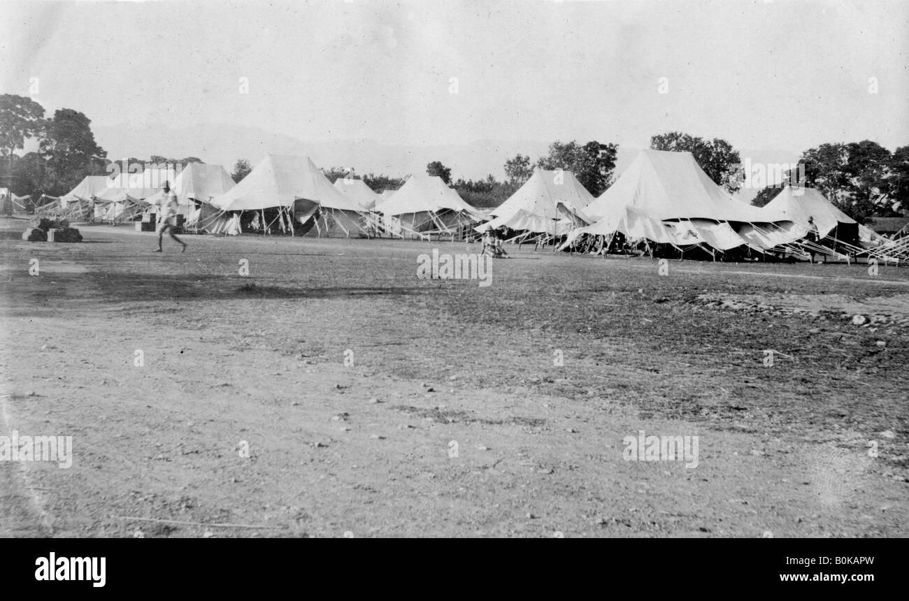 British army encampment, Dehra Dun, India, 1917. Artist: Unknown - Stock Image