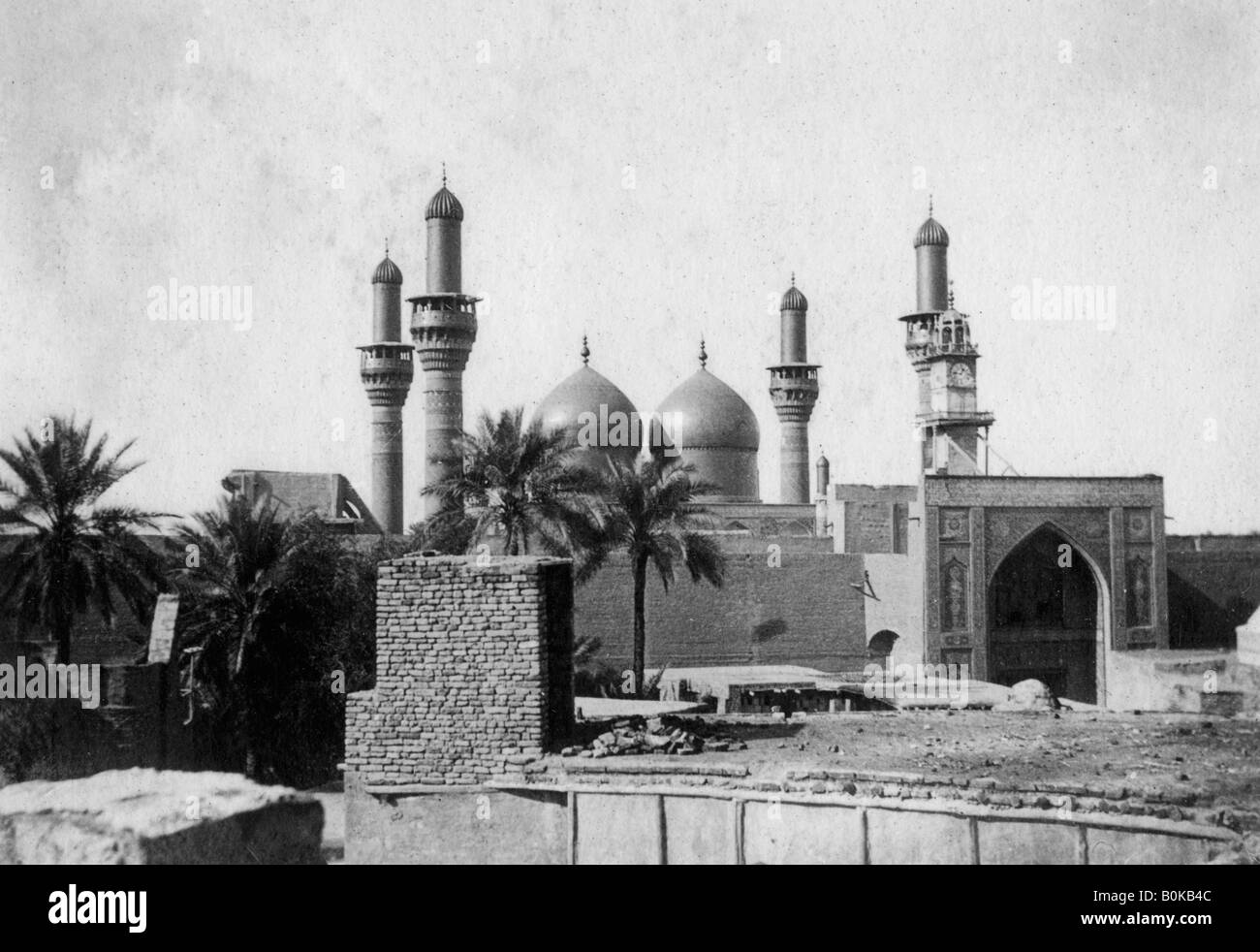 Kazimain mosque, Iraq, 1917-1919. Stock Photo