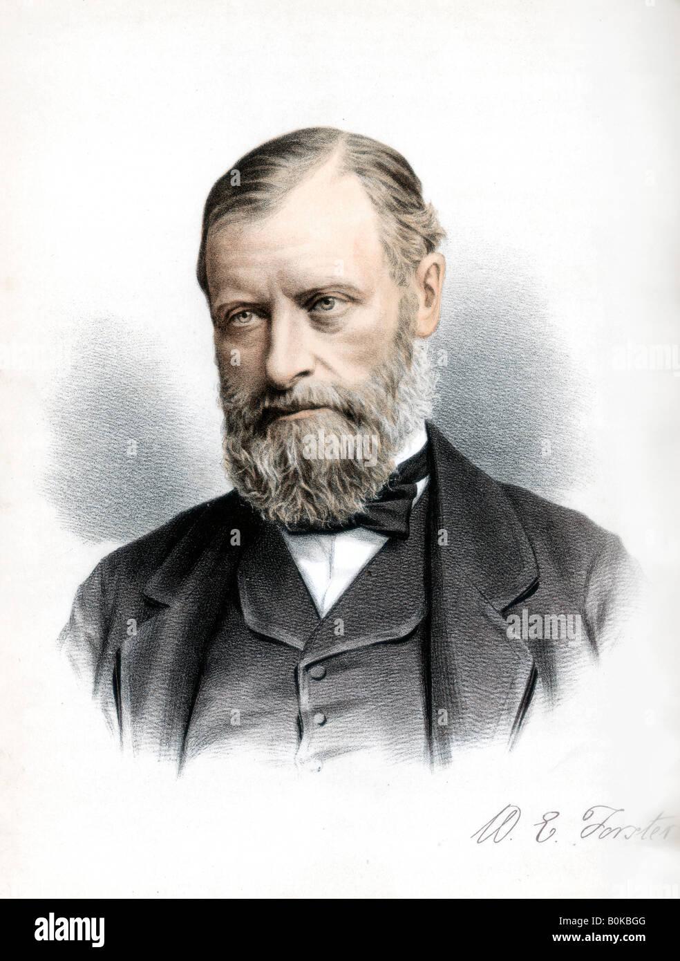 William Edward Forster, British Liberal politician, c1890. Artist: Cassell, Petter & Galpin - Stock Image