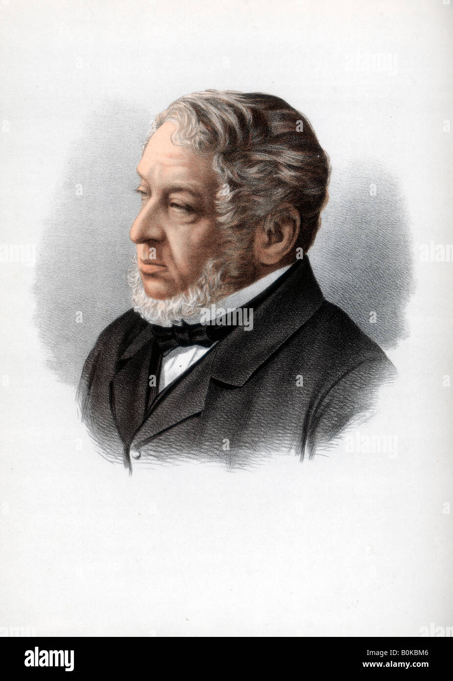 Nathan Rothschild, 1st Baron Rothschild, British banker and politician, c1890. Artist: Cassell, Petter & Galpin - Stock Image