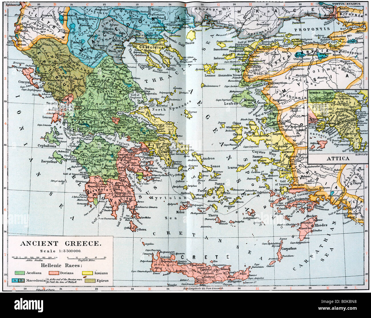Topographic Map Of Ancient Greece.Map Of Ancient Greece Stock Photos Map Of Ancient Greece Stock