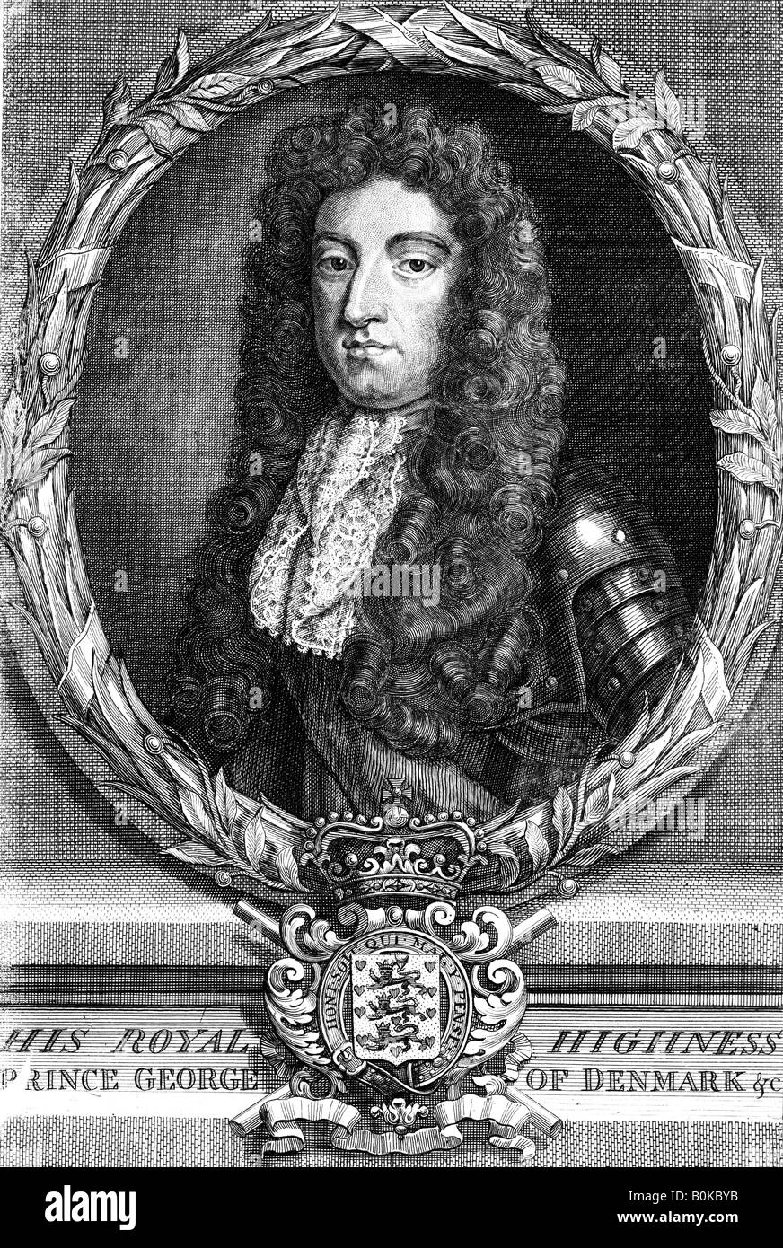 George of Denmark, Prince Consort of Queen Anne of Great Britain. Artist: N Parr - Stock Image