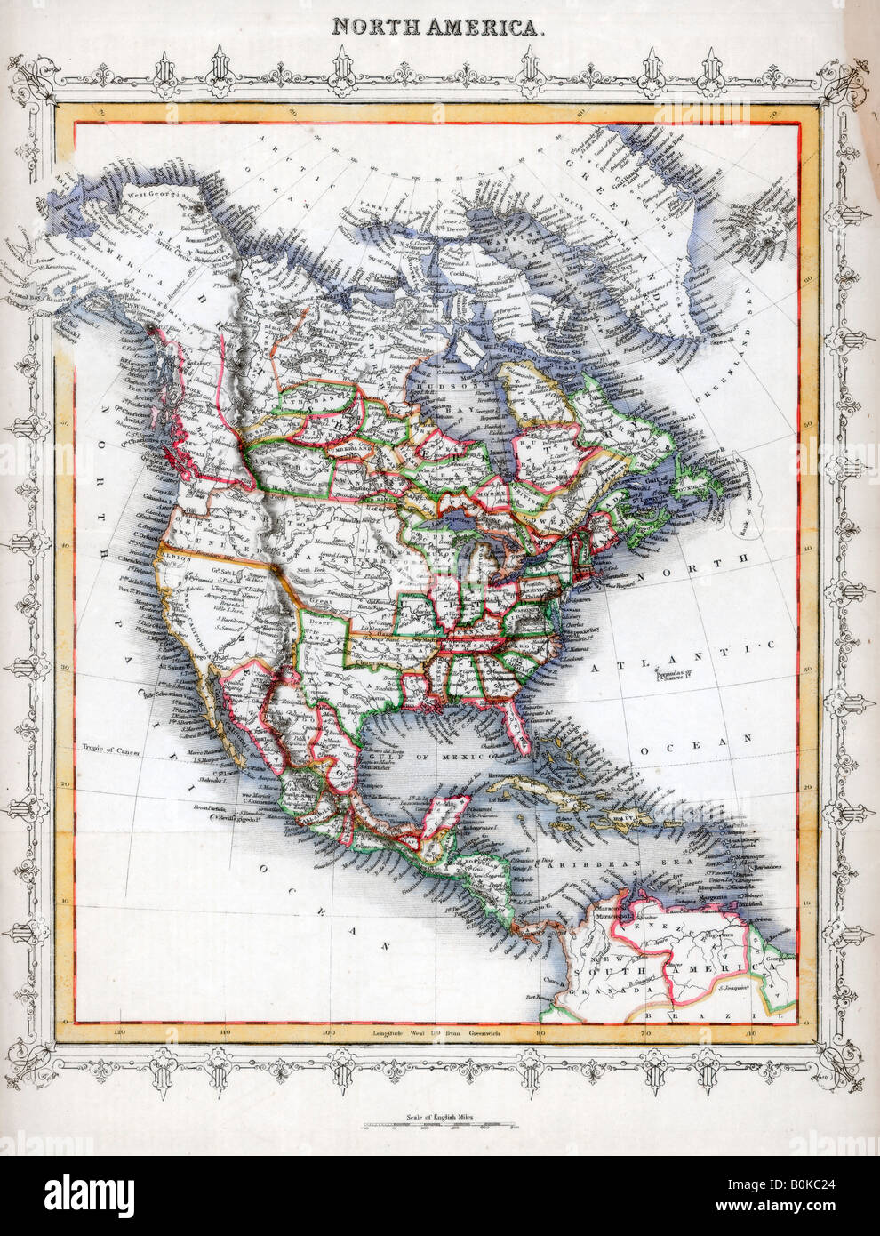 Map of North America. Artist: Unknown Stock Photo