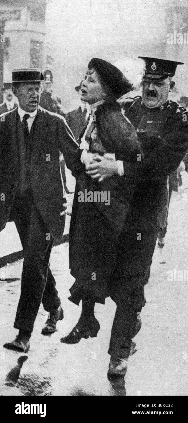 Mrs Pankhurst, arrested outside Buckingham Palace, London, 1914, (1935). - Stock Image