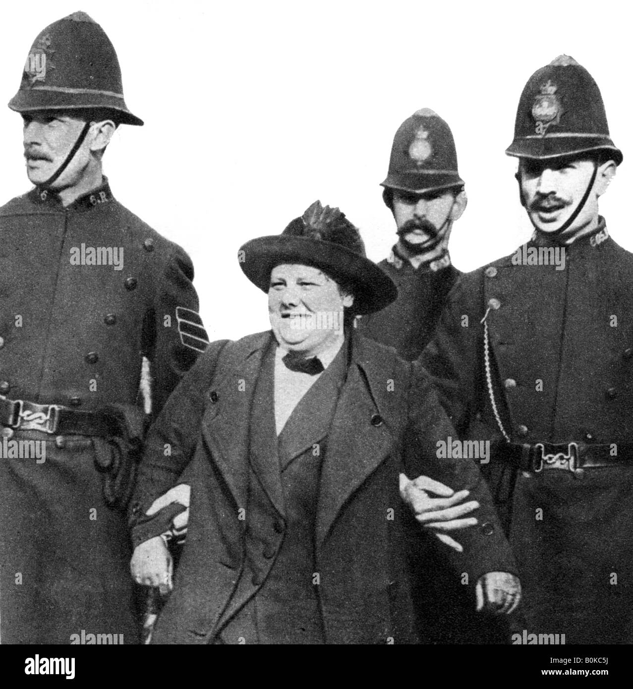 Mrs Flora Drummond, arrested in Hyde Park, London, 1914, (1935). - Stock Image