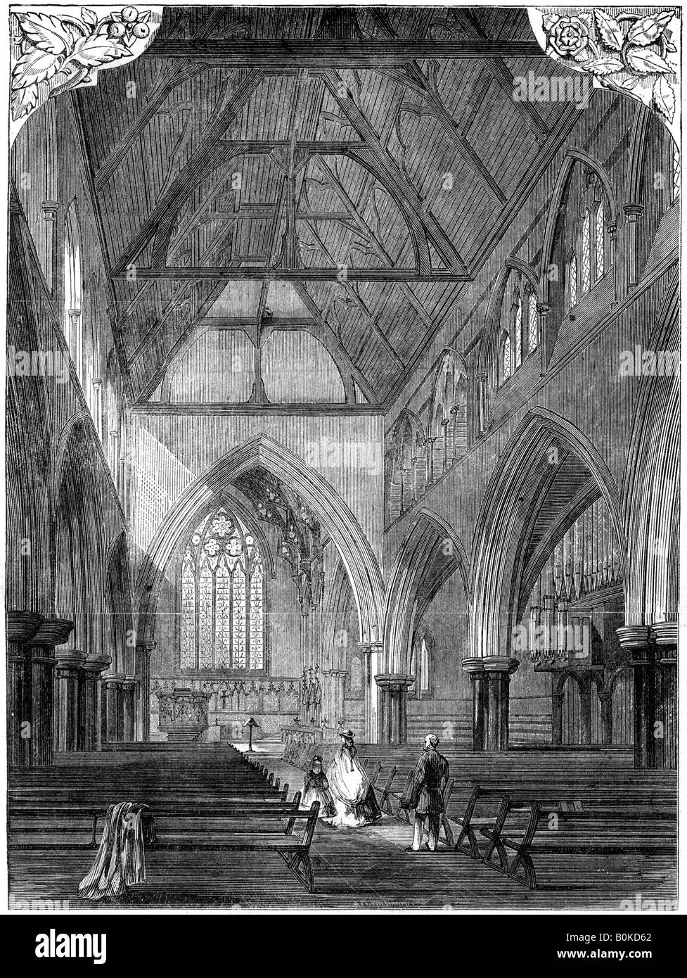 All Saints' Church, Notting Hill, London, 1861.  Artist: Unknown - Stock Image
