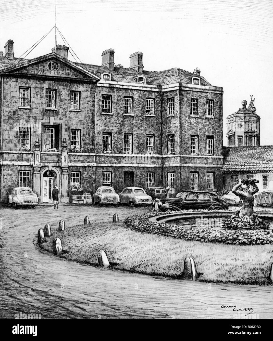 Redcliffe Infirmary, Oxford, c1950-1970. Artist: Graham Clilverd - Stock Image