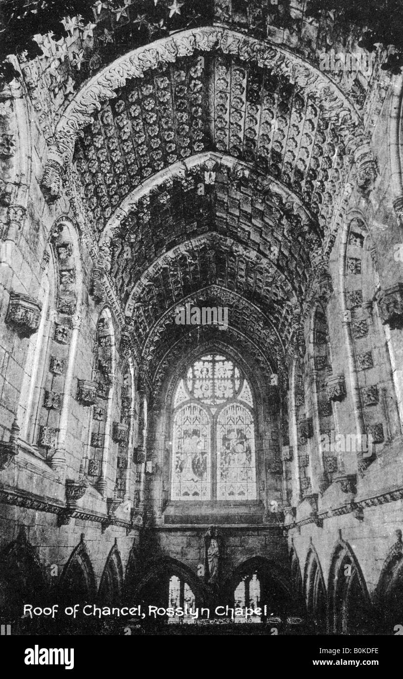 Roof of the Chancel, Rosslyn Chapel, Midlothian, Scotland, 20th century. - Stock Image