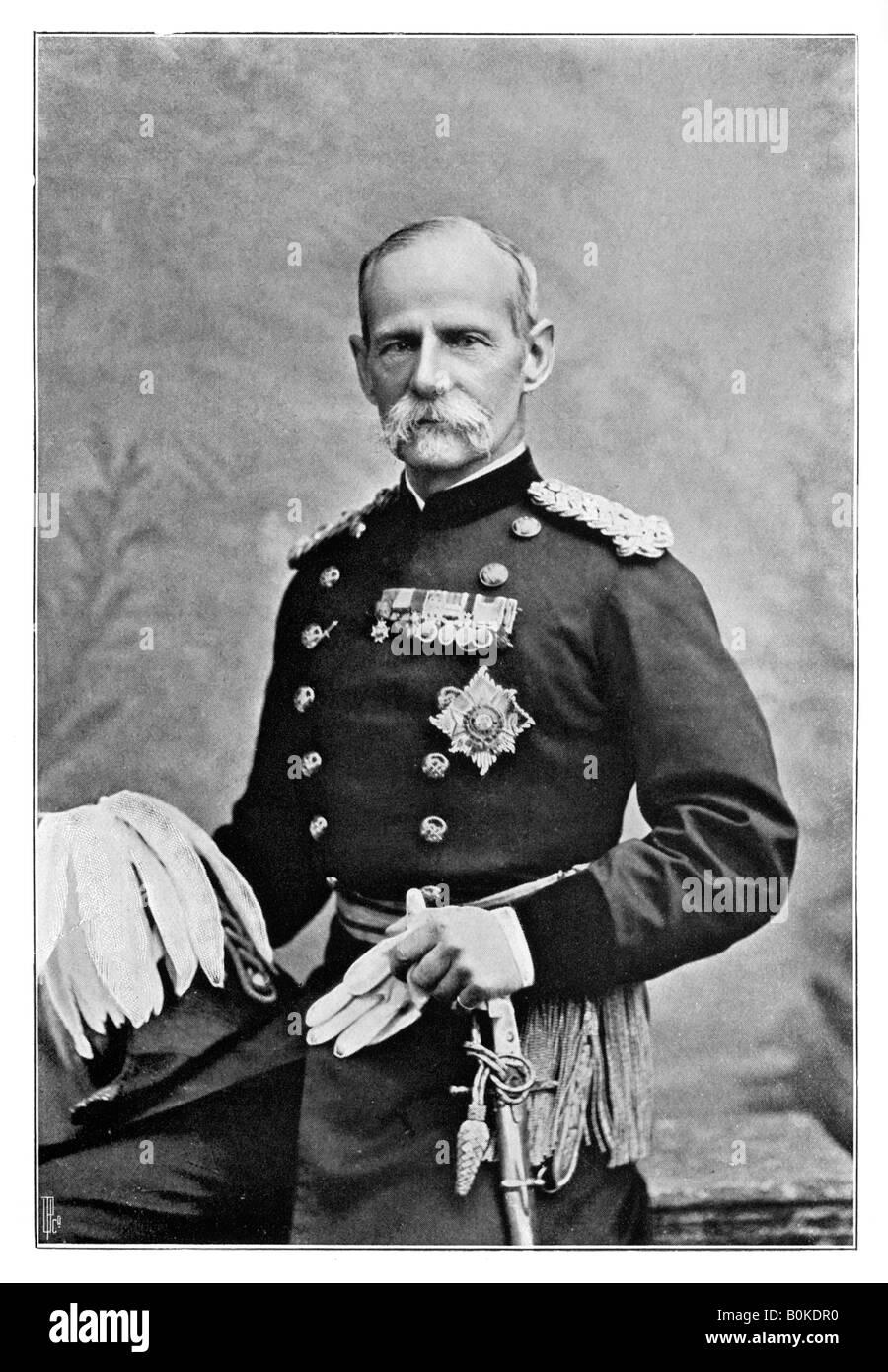 Lord Roberts, British soldier, 1901.Artist: Elliott & Fry - Stock Image