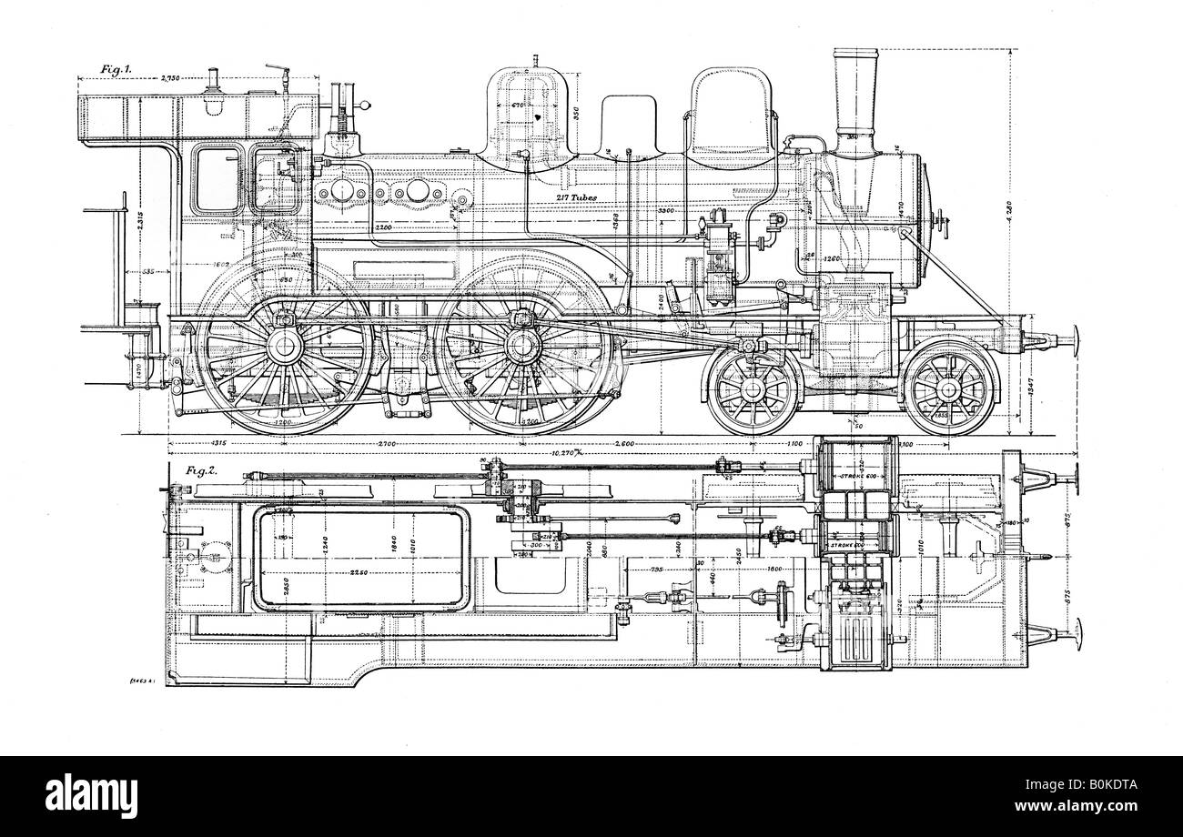 example of mechanical drawing 1901 artist unknown stock photo